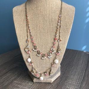 Petallete two-row convertible necklace